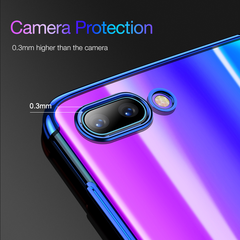 For Huawei Honor 10 Case Transparent TPU Soft Silicone Thin Fundas Coque Back Cover for Honor 10 10Lite 8 9X 20 Pro Phone Cases in Fitted Cases from Cellphones Telecommunications