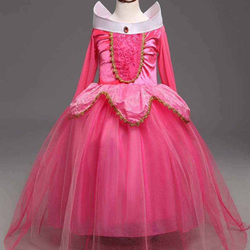 Princesa Aurora bola Vestidos para Niñas Halloween Cosplay niños ...