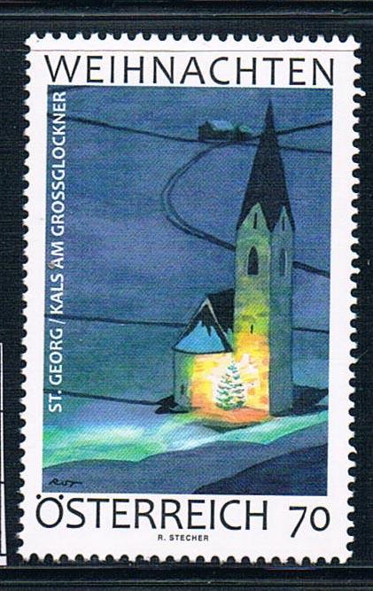 AU1213 Austria 2012 Christ came Cass San George church 1 stamp 1206 NEW cass kiera the heir
