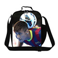 Персонализированные Neymar обед сумки для мальчиков школы, Изоляцией обед контейнер для подростков, Мода мешок еды с держатель бутылки, Питание сумки