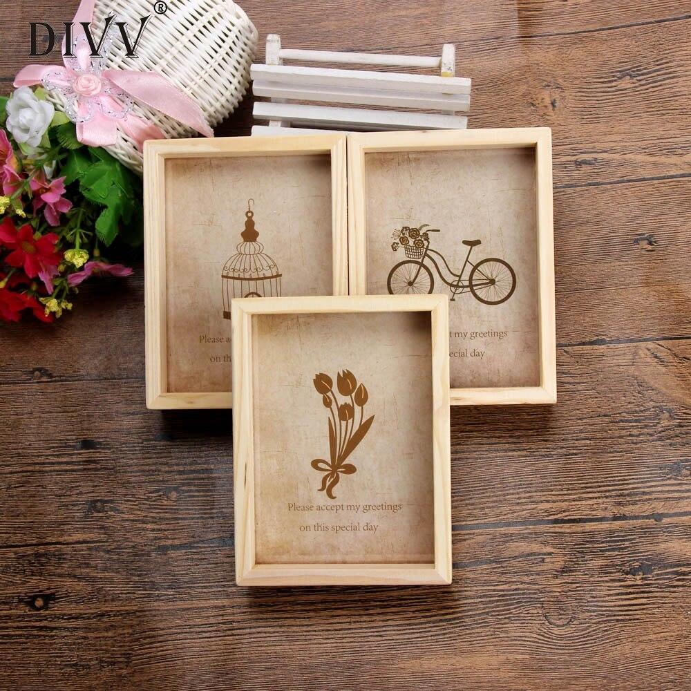 zero new home decor wooden picture frame destop style photo frame oct13china - Wooden Picture Frames