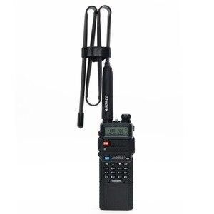 Image 4 - ABBREE 72 سنتيمتر/28.3IN طوي الجيش CS التكتيكية SMA الإناث VHF UHF المزدوج الفرقة هوائي ل اسلكية تخاطب Baofeng UV 82 UV 5R BF 888S