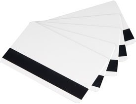 MSR Hi/Lo Co magnetic stripes blank ID PVC plastic card