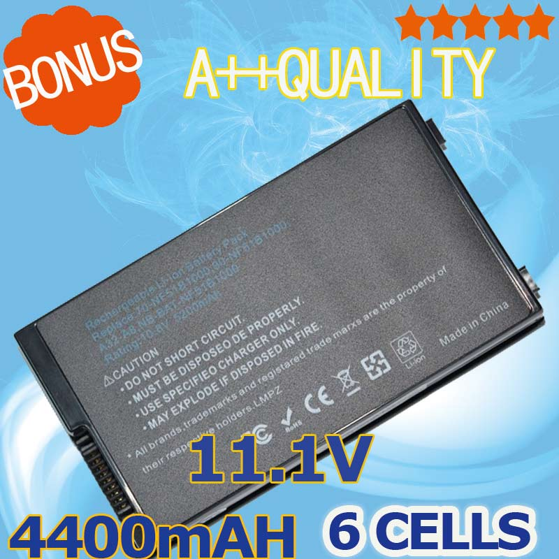 4400mAh 6 cells Battery for ASUS A32-A8 A72DY A8Z F8 F8S A8A F8Sa Z99J A8E A8F A8Fm F8V A8H A8H X80 X80H A8Jv X80L A8M X80N new origl lcd back cover bezel hinge for asus a8 a8j a8h a8f a8s z99 z99f z99s