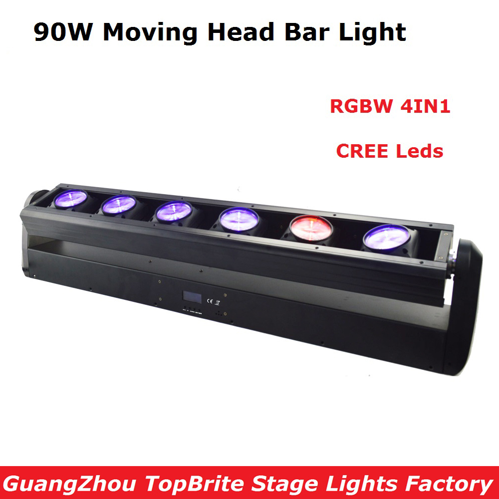 Factory Price 1XLot 90W LED Moving Head Strip Bar Light High Quality 6X12W RGBW 4IN1 CREE Leds Beam Moving Head Lights Fast Ship 1pcs lot moving head lights led spider 9x10w rgbw 4in1 cree leds moving head beam lights good quality fast shipping