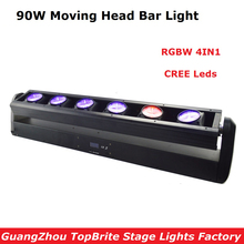 Factory Price 1XLot 90W LED Moving Head Strip Bar Light High Quality 6X12W RGBW 4IN1 CREE Leds Beam Moving Head Lights Fast Ship