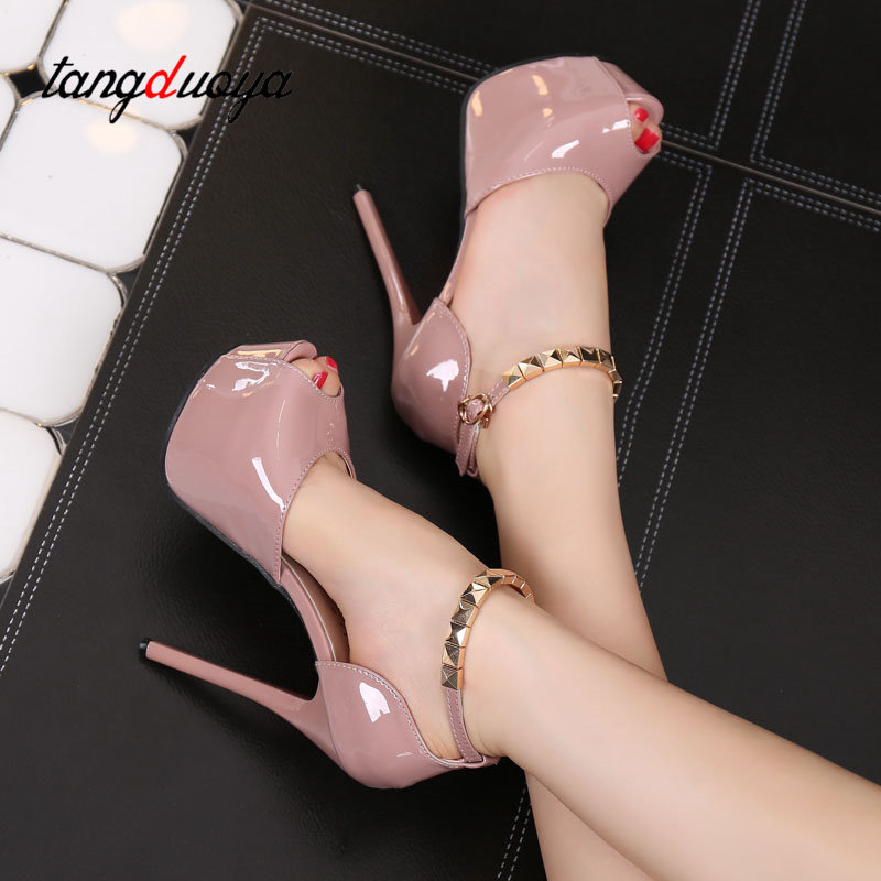 TangDuoYa 2018 Sexy Platform Wedding Shoes Thin High Heels