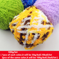 500g Soft Cashmere Yarn For Knitting Mink Baby Knitting Wool Hand Knitted Hook Needle Work Wool
