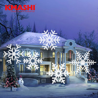Kmashi Projector Lights 16 Pattern Gobos Garden Lighting Waterproof Sparkling Landscape Projection Light Christmas Decoration