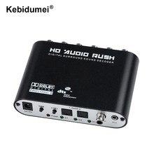 Conversor analógico para ps3 xbox dvd player decodificador de áudio digital spdif coaxial para rca dts ac3 digital a 5.1
