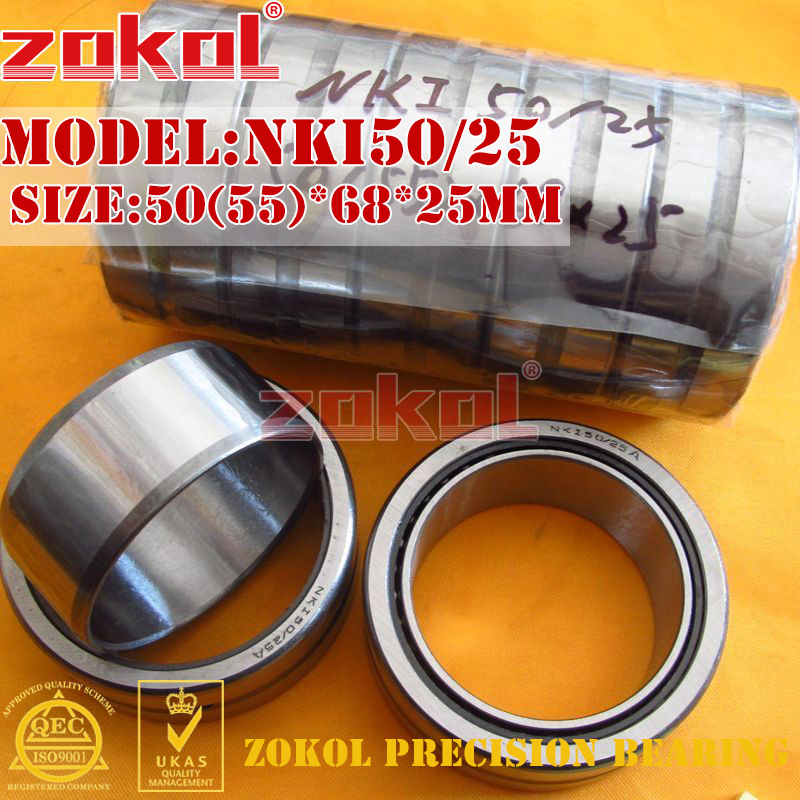 ZOKOL bearing NKI50/25 Entity ferrule needle roller bearing 50(55)*68*25mm 0 25mm 540 needle skin maintenance painless micro needle therapy roller black red