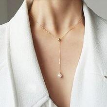 Zakontraktowany krótki akapit żeński wisiorek temperament obojczyk łańcuszek na akcesoria pojedyncze perły akcesoria naszyjnikowe
