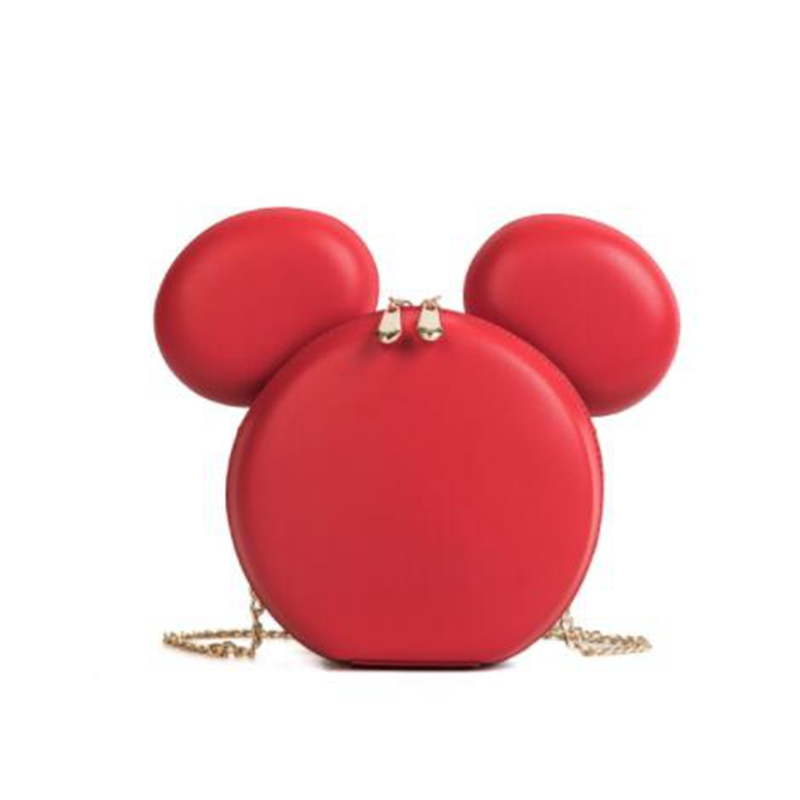 Mini Fashion Women Bag Designer Brand Handbags Cartoon Mouse Large Ears Shoulder Bags Portable Cartoon Messenger Bag Gift  XS-88