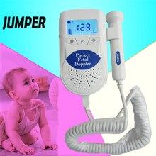 CE& утверждение FDA Перемычка ЖК-дисплей цифровой эмбриональный допплер для беременных Карманный фетальный сердцебиение допплер слушать ваш ребенок звук