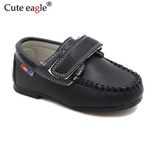 цена на Cute eagle Kid Pu Leather Shoes Boys Orthopedic Pigskin Insole Shoes Sneakers Super Quality Children Outdoor For Baby Soft Shoes