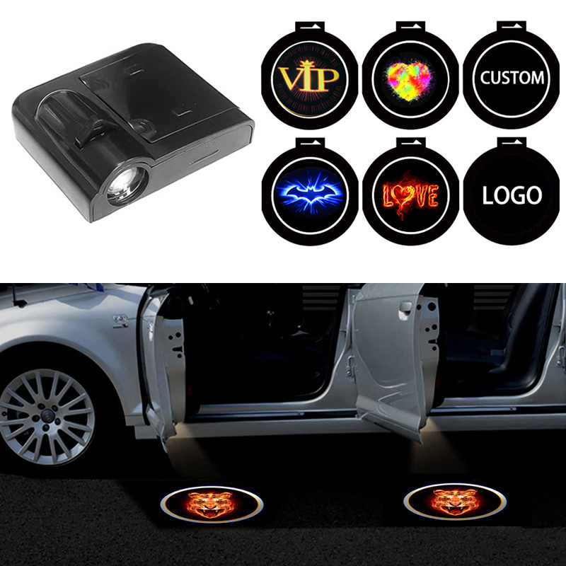 Anycuros Black 1PCS Led Car Door Welcome Logo Light Welcome Light For BMW For Toyota For Volkswagen For Mercedes Benz Projector