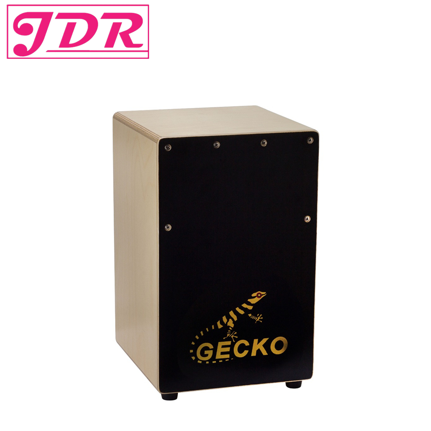 JDR Cajon Drum Box Birch Plywood Mini Hand Drum GECKO with String Structure Inside and Alloy