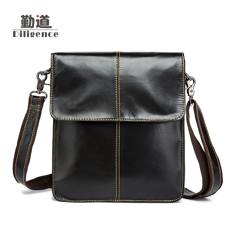 Men's Genuine Leather Handbags Vintage Fashion Bolsa Feminina Clutch Shoulder Crossbody Bags Famous Designer Style Messenger Bag women shoulder bags leather handbags shell crossbody bag brand design small single messenger bolsa tote sweet fashion style