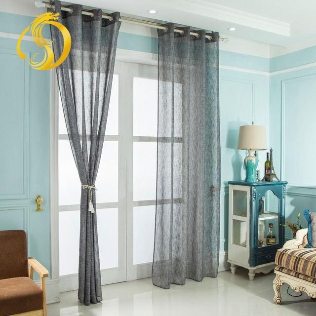 US $29.0  Soft Multi Color Voile Gray Window Modern For Living Room Roman  Curtains Bedroom Children Curtains Tulle Sheer Fabrics -in Curtains from ...