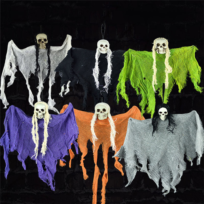 1pc Random Color Halloween Diy Ghost Hangings Halloween Party Hanging Drops Pendant Decoration Make Fun Toys Ambience Supplies Good Reputation Over The World Party Diy Decorations