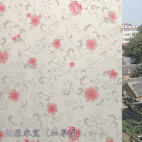stained Flower art static cling opaque self-adhesive glass film sunscreen insulation  vinyl Frosted window film privacy sticker