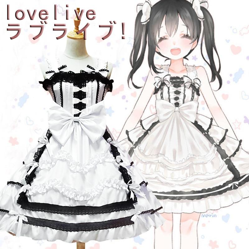 Lovelive Yazawa Nico Anime Cosplay robe de chambre blanche robe de chambre gothique Lolita écoliers robes Costumes adultes pour femmes
