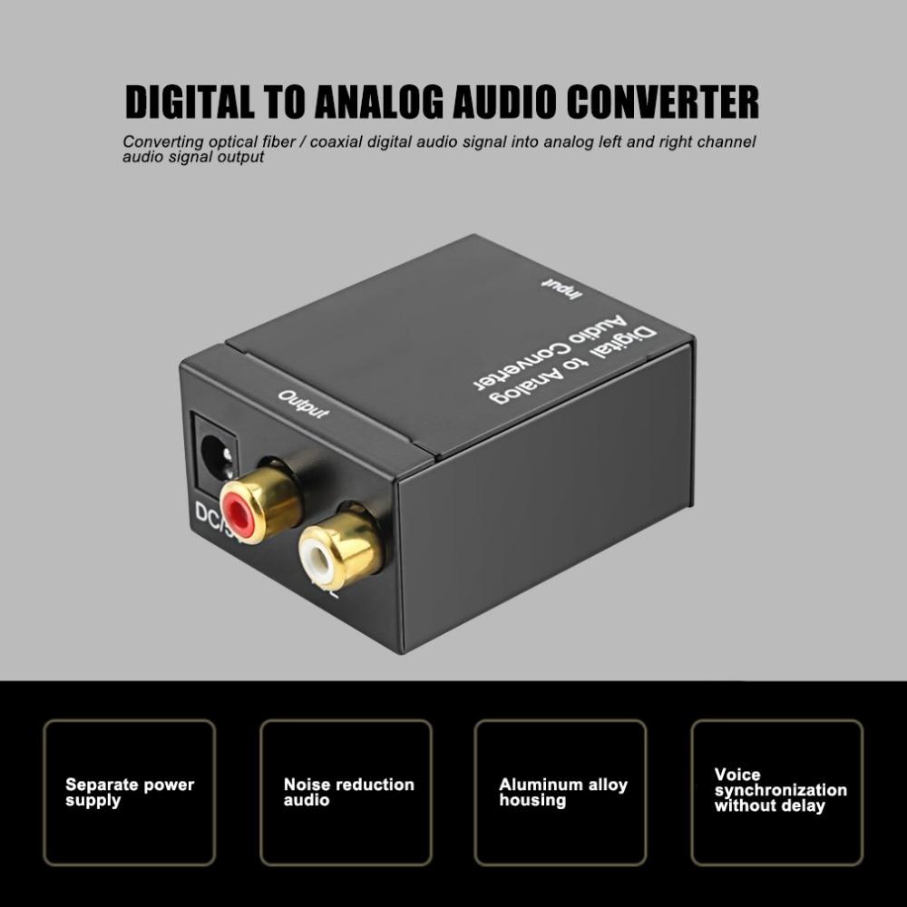 Cewaal Digital Optical Toslink Spdif Coax Zu Analog Rca Audio Converter Adapter Schwarz Unterhaltungselektronik Tragbares Audio & Video