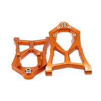 2x Alloy Front Lower Suspension Arm For Rc Hobby Model Car 1/5 Hpi Baja L85400 RCAWD RC Spare Parts Suspension a Arm