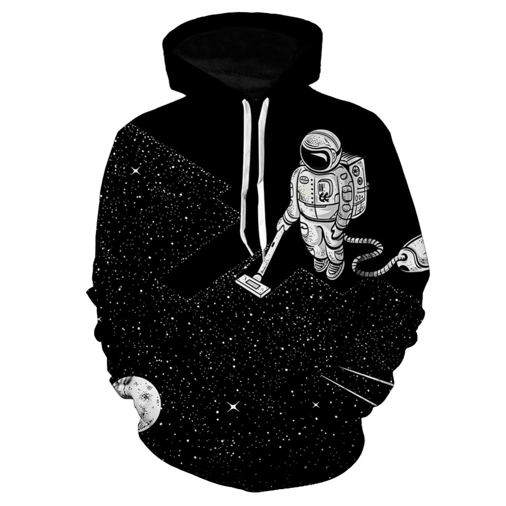 Astro Sauber 3d Hoodies Männer Frauen Langarm Outwear Galaxy Lustig Druck Sweatshirt Weltraumspaziergang Pullover Sweat Hoodie Sudadera
