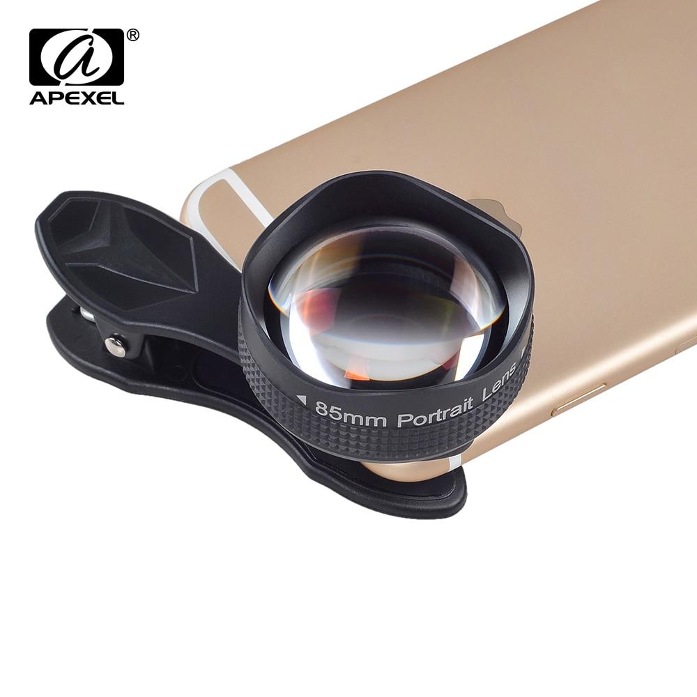 Цена за APEXEL Оптический Pro Объектив, 85 мм 3X HD Телеобъектив профессиональный портретный Объектив, не Темный Круг для iphone 6 s/6 s plus Xiaomi