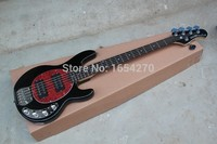 Factory High Quality 5 string music man stingray  Active pickups 9V battery guitar  Electric  Bass Guitar in stock  151112