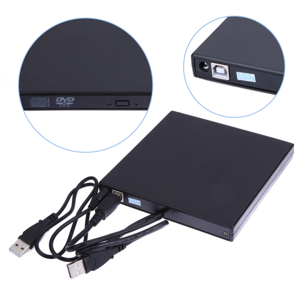 2017 hot sale usb 2 0 external dvd rom player reader combo cd rw burner drive for pc high. Black Bedroom Furniture Sets. Home Design Ideas