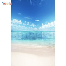 Yeele Seaside Blue Sky Cloud Beach Lakes Photocall Photography Backgrounds Customized Photographic Backdrops For Photo Studio цена