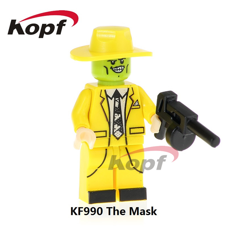 20Pcs KF990 Super Heroes Building Blocks The Mask Magical Comedy Movie TV Cahracter Bricks Collection Gift Toys Action Children