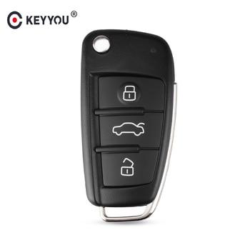 Chiave Telecomando per Audi A6L Q7 A2 A3 A4 A6 A6L A8 TT 2008 2009 2010 2011 Fob Case