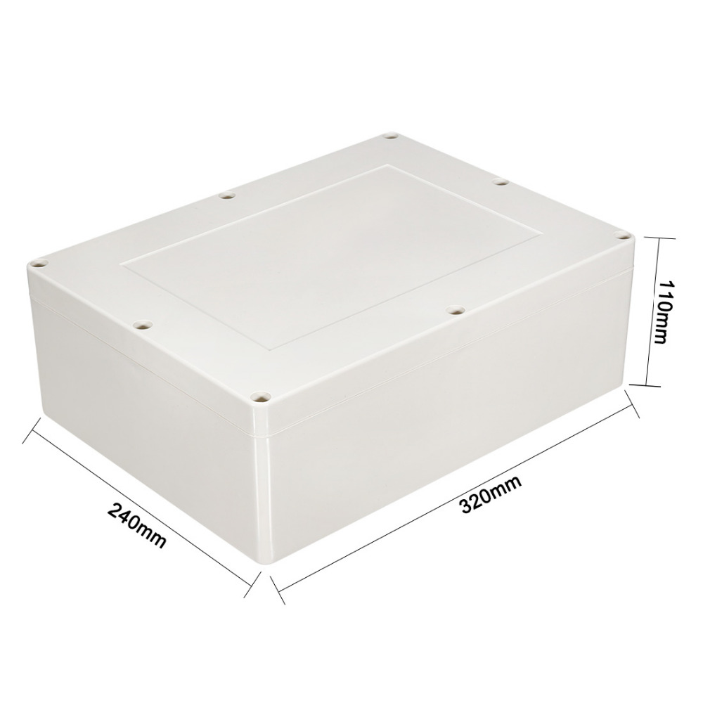 New Arrival 320x240x110mm Junction Box Outdoor Waterproof Electrical Connection Box Enclosure Case Housing DIY ABS Plastic