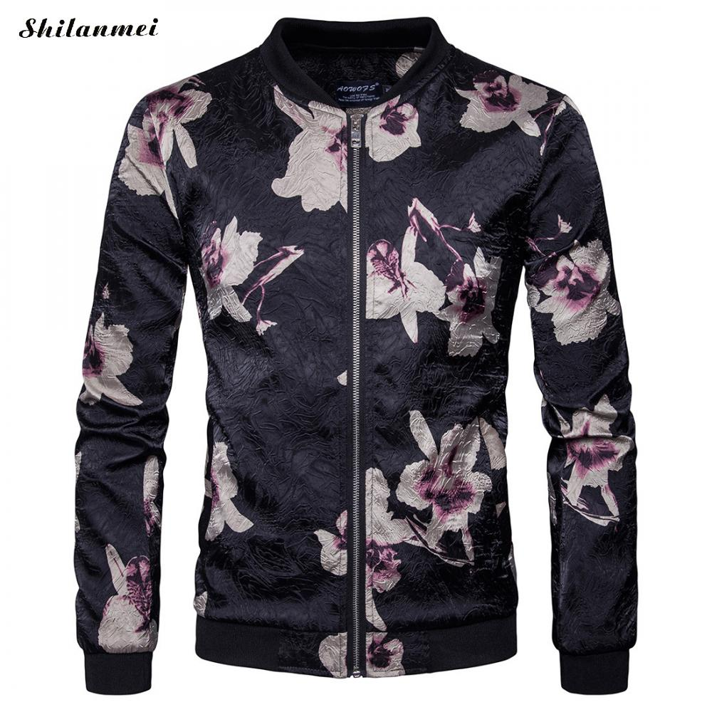 2017 Europe street fashion Jacket Hip Hop Suit Pullover Winter floral printed Jacket Men Coat fashion men Casual jacekts ...