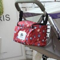 Cochecito portátil Bolsas de pañales beben gran capacidad mantener caliente del bebé organizador madre Maternidad Bolsas para sillas de ruedas