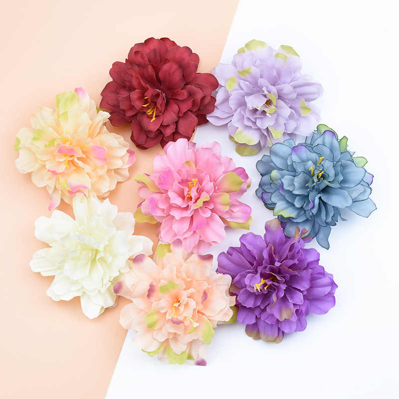 1/5/10pcs 10CM Fake plants stamen decorative flower silk peony christmas decor for home wedding diy gifts box artificial flowers