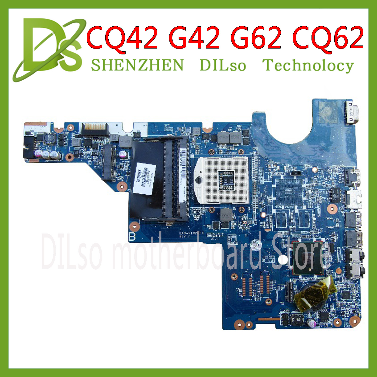 KEFU CQ62 For HP Motherboard CQ42 G42 G62 CQ62 Laptop Motherboard DAOAX1MB6F0 DA0AX1MB6H0 100% Original