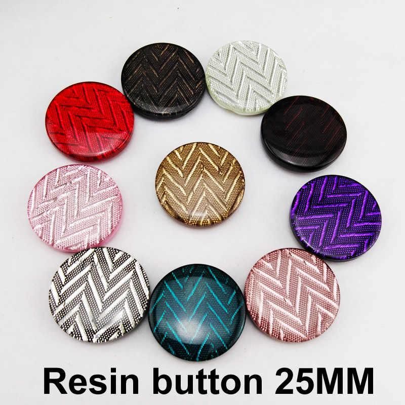 15 adet 25MM gömlek reçine ceket düğmesi dekorasyon çocuklar dikiş elbise aksesuar yuvarlak kazak düğmeleri R-326