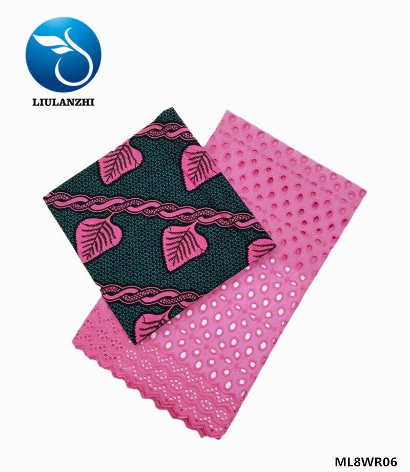 LIULANZHI africain dentelle tissu ankara cire néerlandais tissu cire nouveau design africain style dentelle tissus ML8WR15 - 5