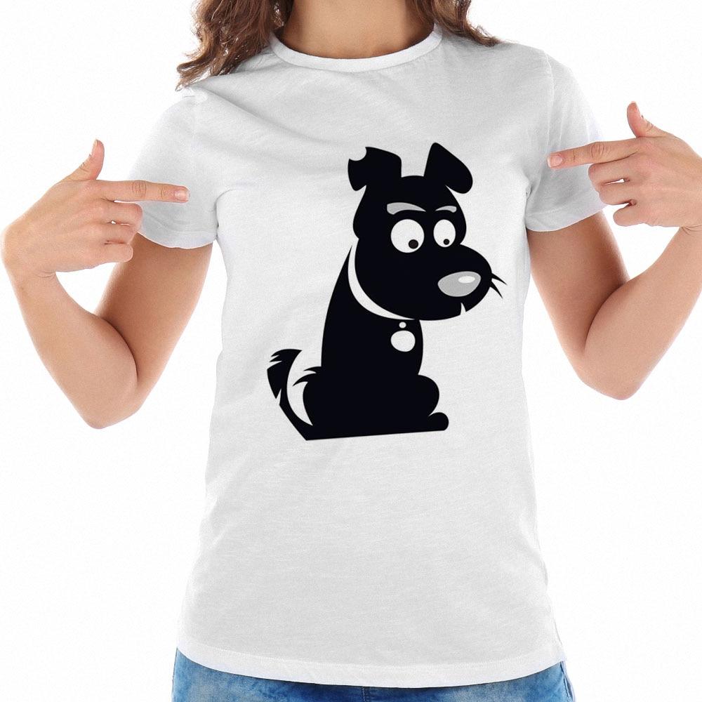 Fashion Summer Ulzzang T Shirt Women Casual White T-shirt Women Black Dog Cay Tee Shirts ...