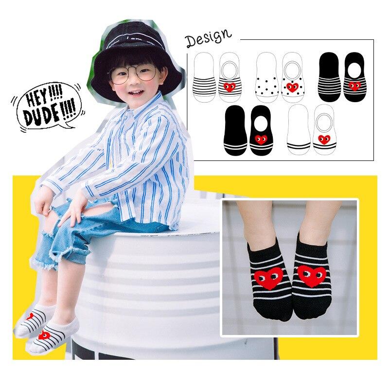 MAINEOUTH 5 paar / stuk 1-12 jaar lente zomer hart enkel sokken - Kinderkleding - Foto 3