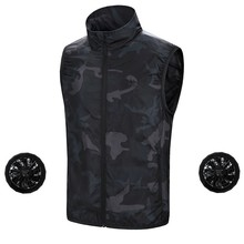 Summer Outdoor Cooling Fishing Vest Smart Cooling Air Conditioning Clothing USB Fan Vest Men Tactical Hunting Hiking Vest air conditioning vest cooling clothing aluminum alloy vortex tube worker welding cool clothes for high temperature environment