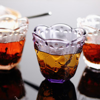 Juice Cup Glasses Drinking Tea Beers Whisky Brandy Copos Bar Party Licor Drinkware Handhold Kamjove Cups