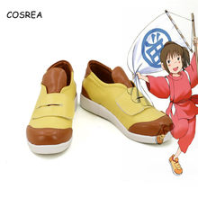 Spirited Away Ogino Chihiro Women Footwear Leather Shoes Ladies Shoes Girls Flat Shoes for Men Cosplay Costumes Casual Shoes(China)