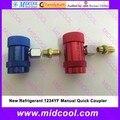 Nueva Refrigerante 1234YF Manual de Acoplamiento Rápido De Alta y Baja M12 * 1.5
