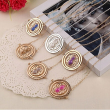 Pop Film Harry Time Turner Hourglass Vintage Pendant Hermione Granger Necklace Gold Plated Many Color Choose