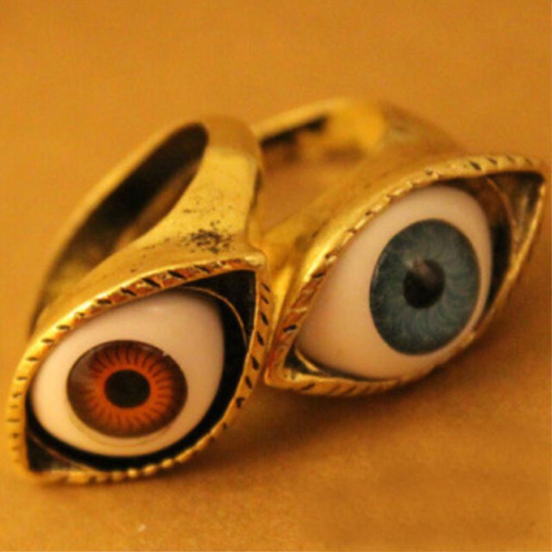Classic Vintage Eye Finger Ring Eyeball Punk Goth Jewellery Halloween Gift